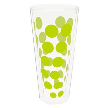 لیوان دوجداره شیشه ای سبز 350 میلی لیتری