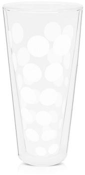 لیوان دوجداره شیشه ای سفید 350 میلی لیتری