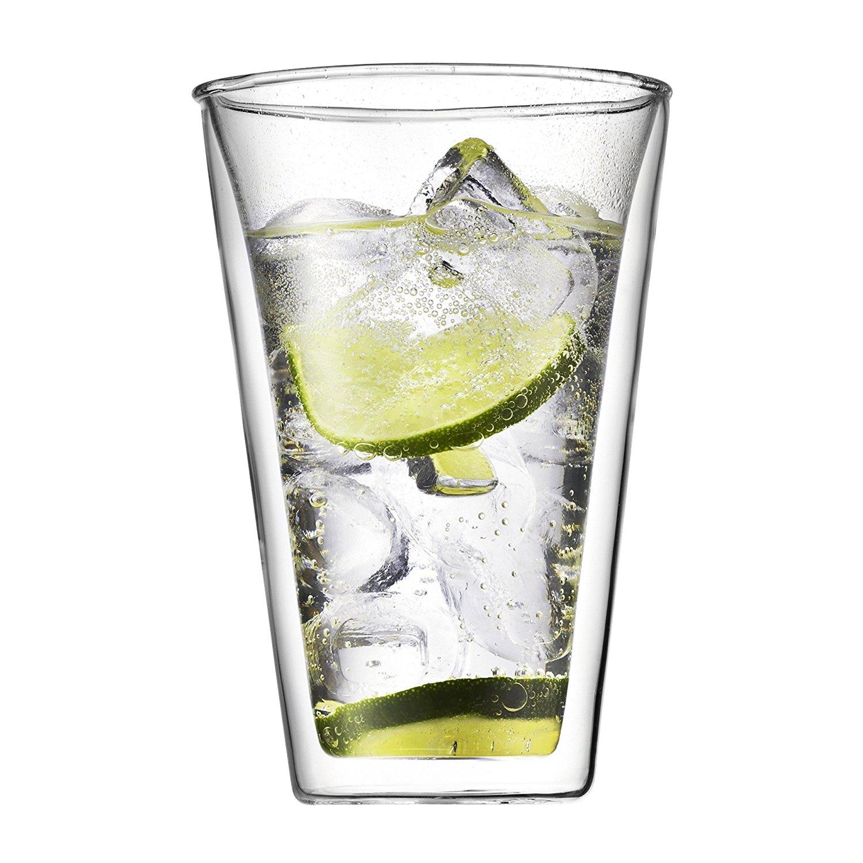 ست 2عددی لیوان دوجداره شیشه ای کنتین 400 میلی لیتر
