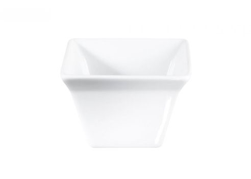 ظرف مخصوص فر مربع سرامیکی سفید 7x7x4.5 سانتیمتری