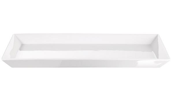 ظرف مخصوص فر مستطیل سرامیکی سفید 26x39.5x3 سانتیمتری