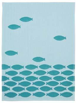 حوله آشپزخانه طرح ماهی آبی 50x70 سانتیمتری