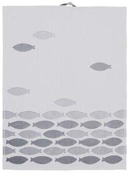 حوله آشپزخانه طرح ماهی طوسی 50x70 سانتیمتری طرح 1
