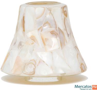 حباب کوچک شمع موزاییک سفید
