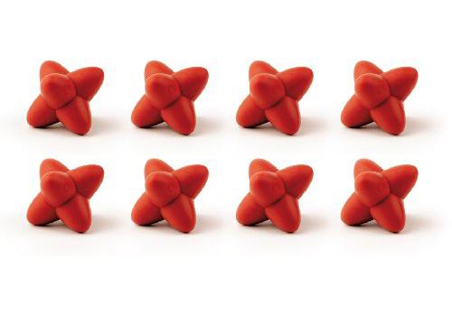 ست 8عددی زیرقابلمه ای تزیینی قرمز