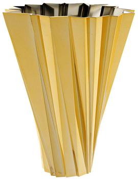 گلدان پلی کربنات طلایی 35 سانتی متری شانگهای