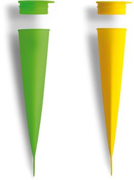 قالب بستنی سیلیکونی بسته بندی 2 تایی-زرد/سبز